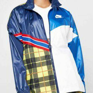 Nike Sportswear Multicolor Plaid Woven Jacket Wome